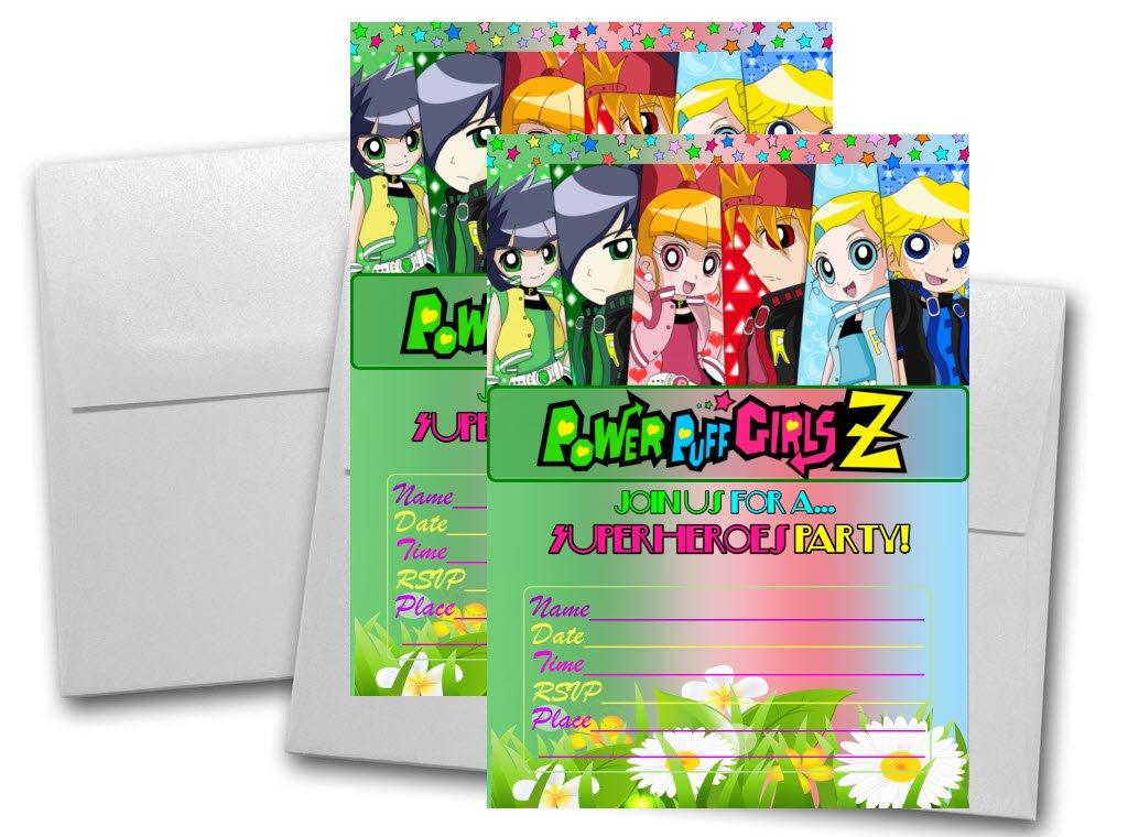 12 tarjetas de invitación de cumpleaños Powerpuff Girls Z ...