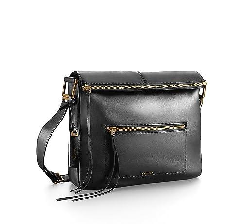 Aster Leather Shoulder Foldover Bag