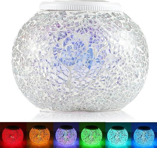 GRDE® Lámpara Solar cambiante del Color del Mosaico para Noche ...