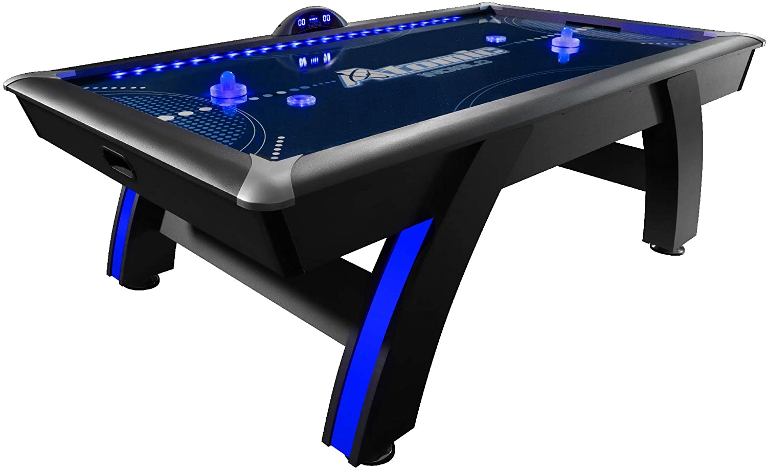 Atomic 7.5 ft Top Shelf LED Air Hockey Table w// FREE Shipping