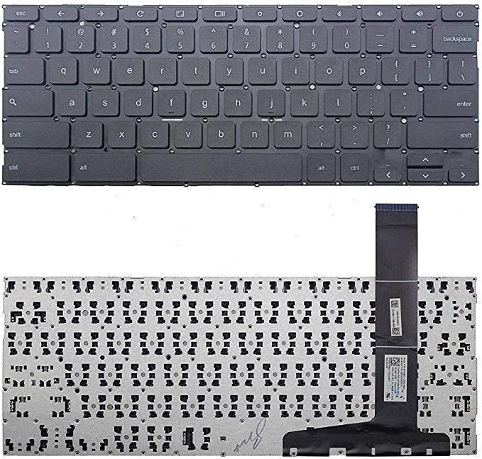 0KNB0-112BUS00 AE0C8U00010 9Z.NBLSQ.101 NSK-UZ1SQ 01 US Keyboard Black Without Frame New Replacement for Asus Chromebook C300 C300M C300MA Series P//N