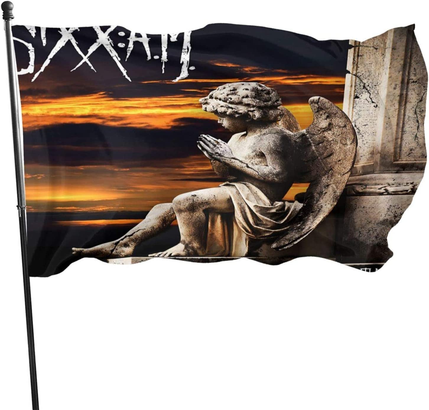 Sixx Am Prayers for The Damned Garden Flag Personalized Decoration Banner Indoor Outdoor Courtyard Sign Farm Party Activities 3 X 5 Ft
