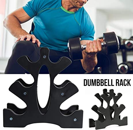 Maximum Load 25kg Free Weights Dumbbells Rack for Home Gym Exercise Dumbbell Rack Stand Only 3 Tier Dumbbell Storage Racks