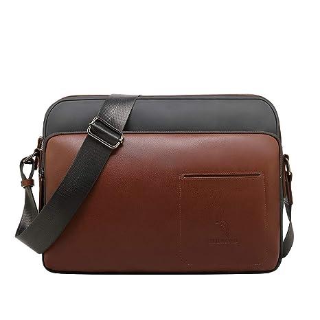 4c27872075849 CUIBIRD Umhängetasche Herren Klein Leder Lässig Crossbody Tasche Mini  Männer Canvas Messenger Bag IPAD Herrentasche Schultertaschen