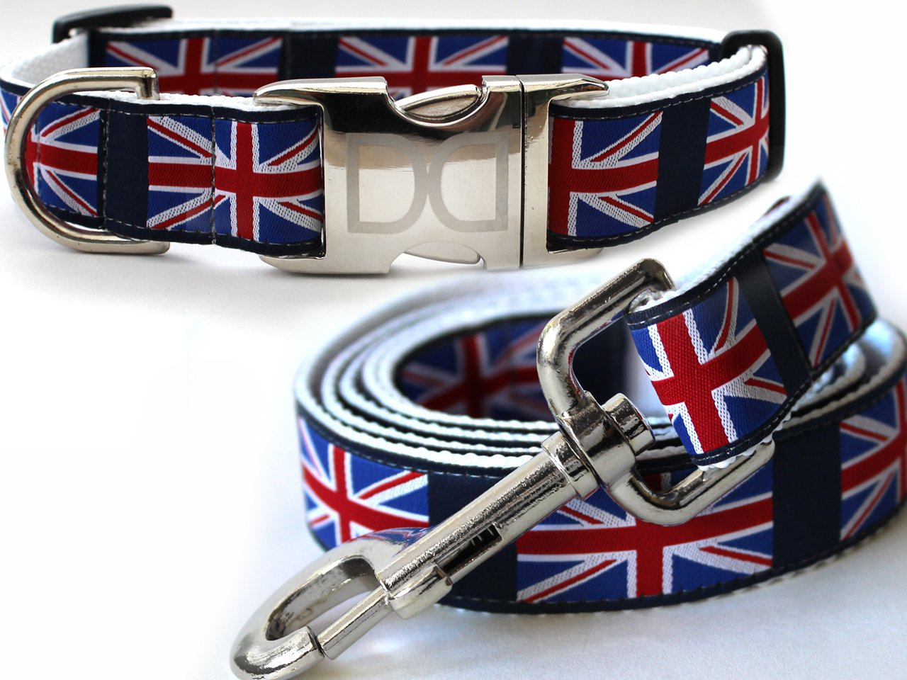 London Calling Dog Collar and Leash - Size M/L