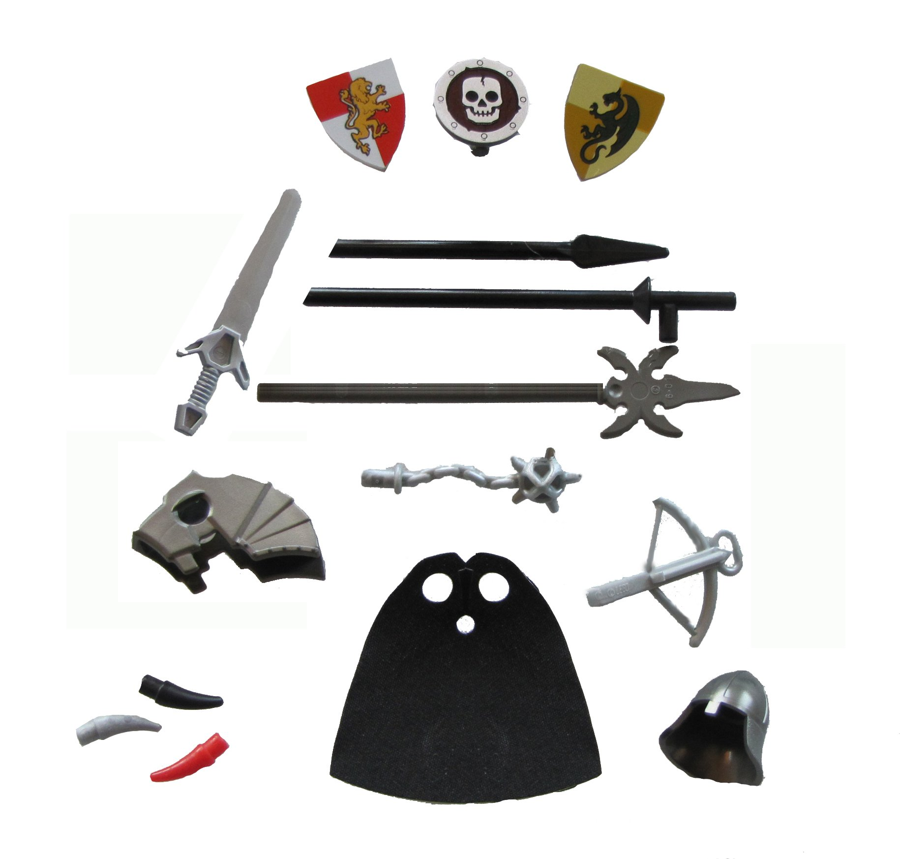 LEGO Knight Weapon and Armor Accessory Kit (Castle/Kingdom)