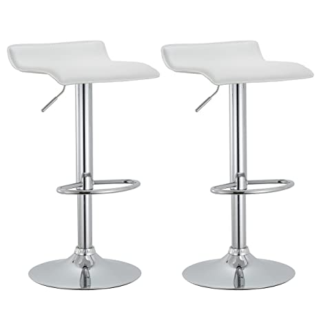Astounding Amazon Com Mattsglobal Modern Adjustable Bar Stools Chrome Machost Co Dining Chair Design Ideas Machostcouk