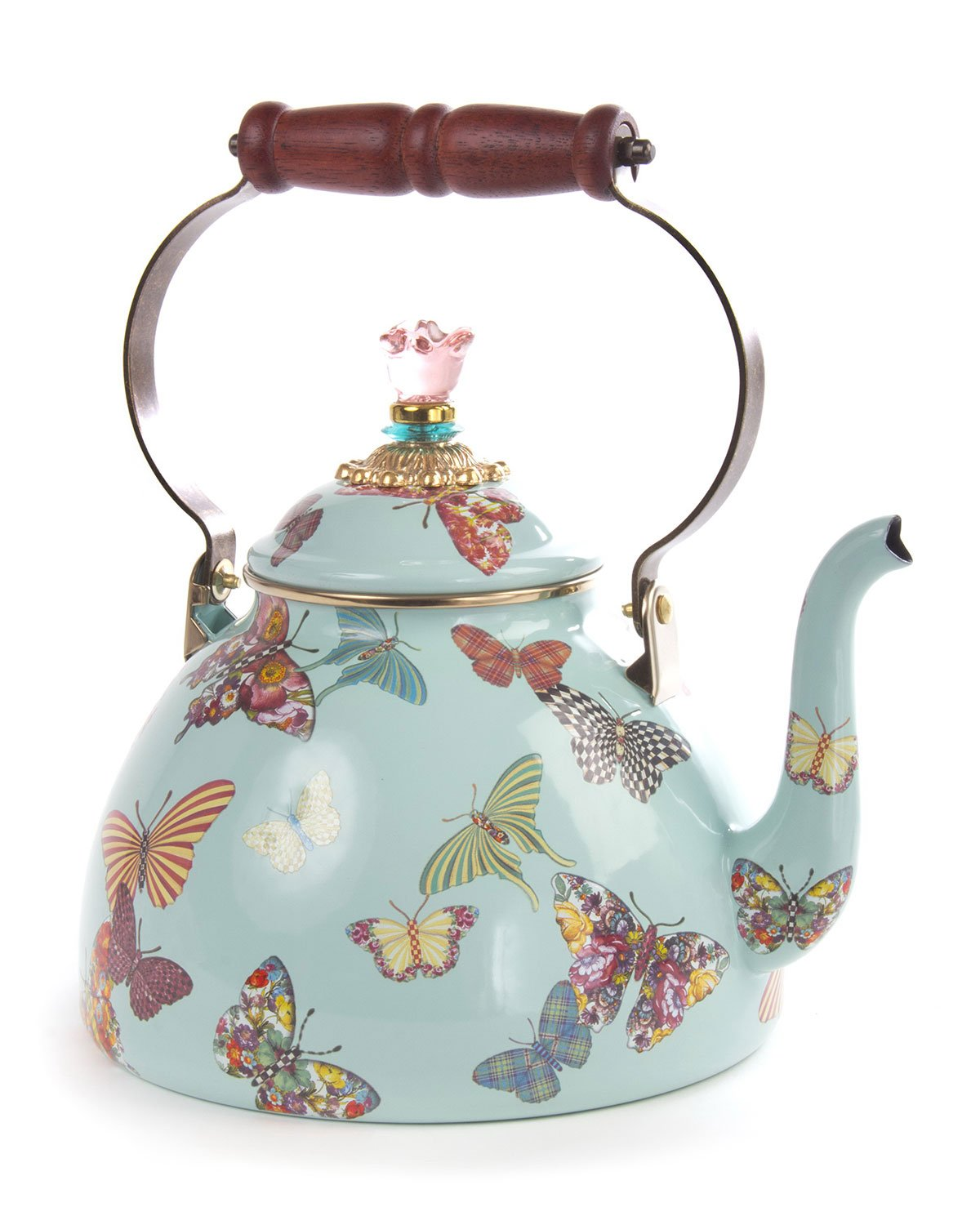 Butterfly Garden 3Qt Tea Kettle, MULTI COLORS