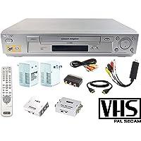 Sony PAL VCR Multisystem Worldwide VHS Bundle w/ Transformer, Remote, HDMI, USB