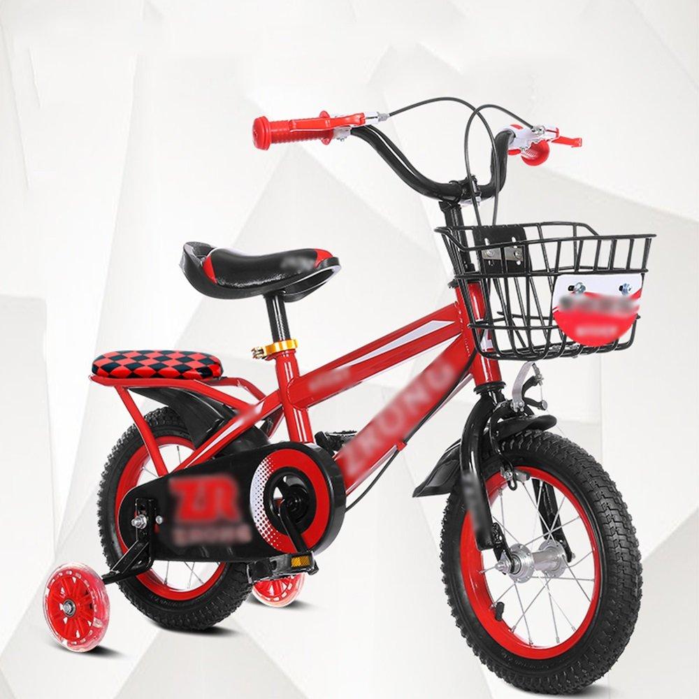 FEIFEI キッズバイク、サイズ12インチオプション、14インチ、16インチ、18インチレッドブルーイエロー安全で信頼性の高い ( 色 : 赤 , サイズ さいず : 14 inches ) B07CRLVSTJ 14 inches|赤 赤 14 inches