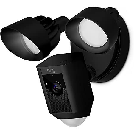 Ring floodlight cam hd security camera with built in floodlights two way talk