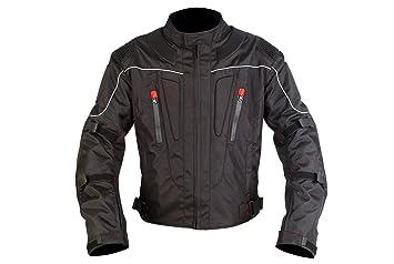 Chaqueta de moto | para hombre | Chaqueta impermeable | 4 estacione cortaviento para motos. Todos los tamaños cordura transpirable y protectora. (S)