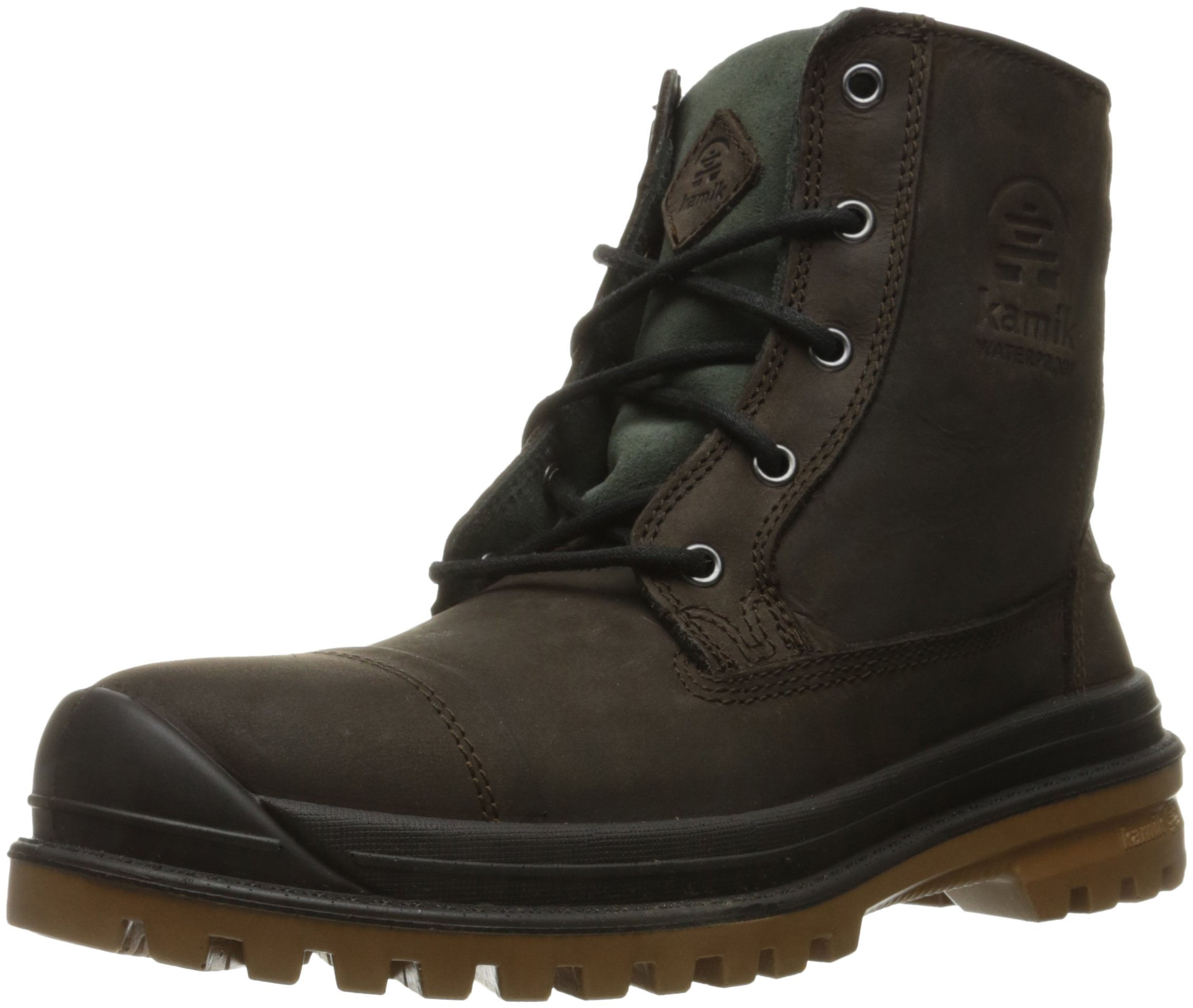 Kamik Men's Griffon Snow Boot, Dark Brown, 12 M US by Kamik
