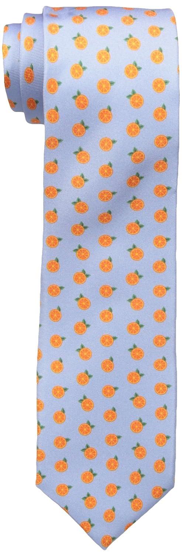 Jack Spade Men's Oranges Print Tie Light Blue One Size Q6RU0408