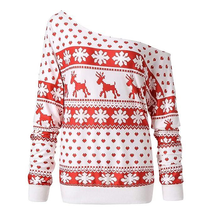 Mujeres Navidad, Modaworld Suéter cálido de Invierno ...