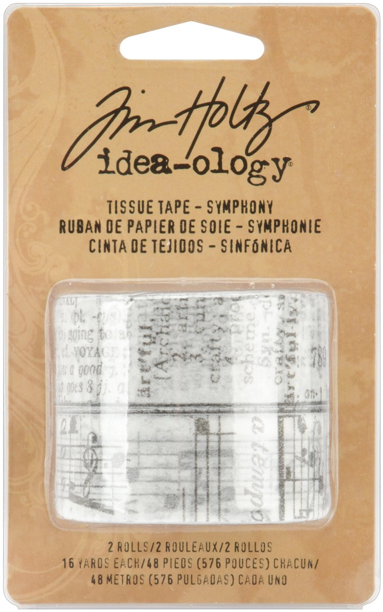 Tim Holtz Idea-ology Symphony Tissue Tape, 2-Roll Per Pack, 3/4-Inchx16-Yard, Paper, Multicolored, TH92829 Advantus Corp.
