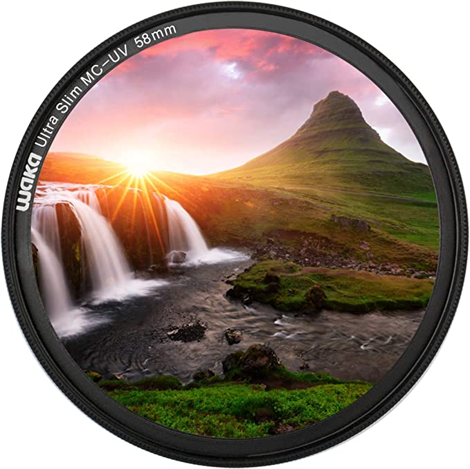 Waka Pro Uv Filter Mc 58mm 3mm Ultra Slim 16 Schichten Kamera