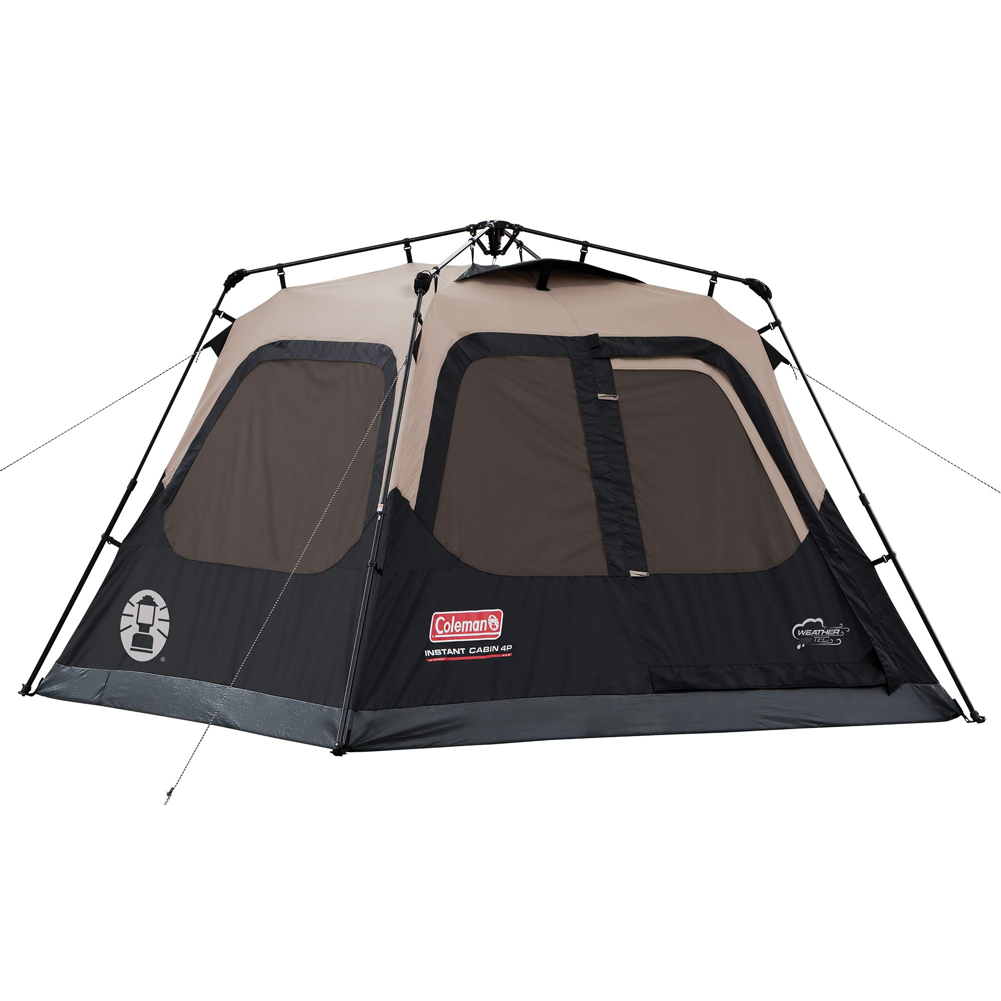 Coleman 4-Person Cabin Tent with Instant Setup | Cabin Tent for Camping Sets Up in 60 Seconds