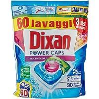 Dixan PowerCaps meerkleurig, wasmiddel voor wasmachine, ideaal voor bonte was, 60 wasbeurten, 900 g