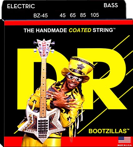 DR Strings Bass Strings, Bootzillas , Bootsy Collins Signature Coated,  45,105
