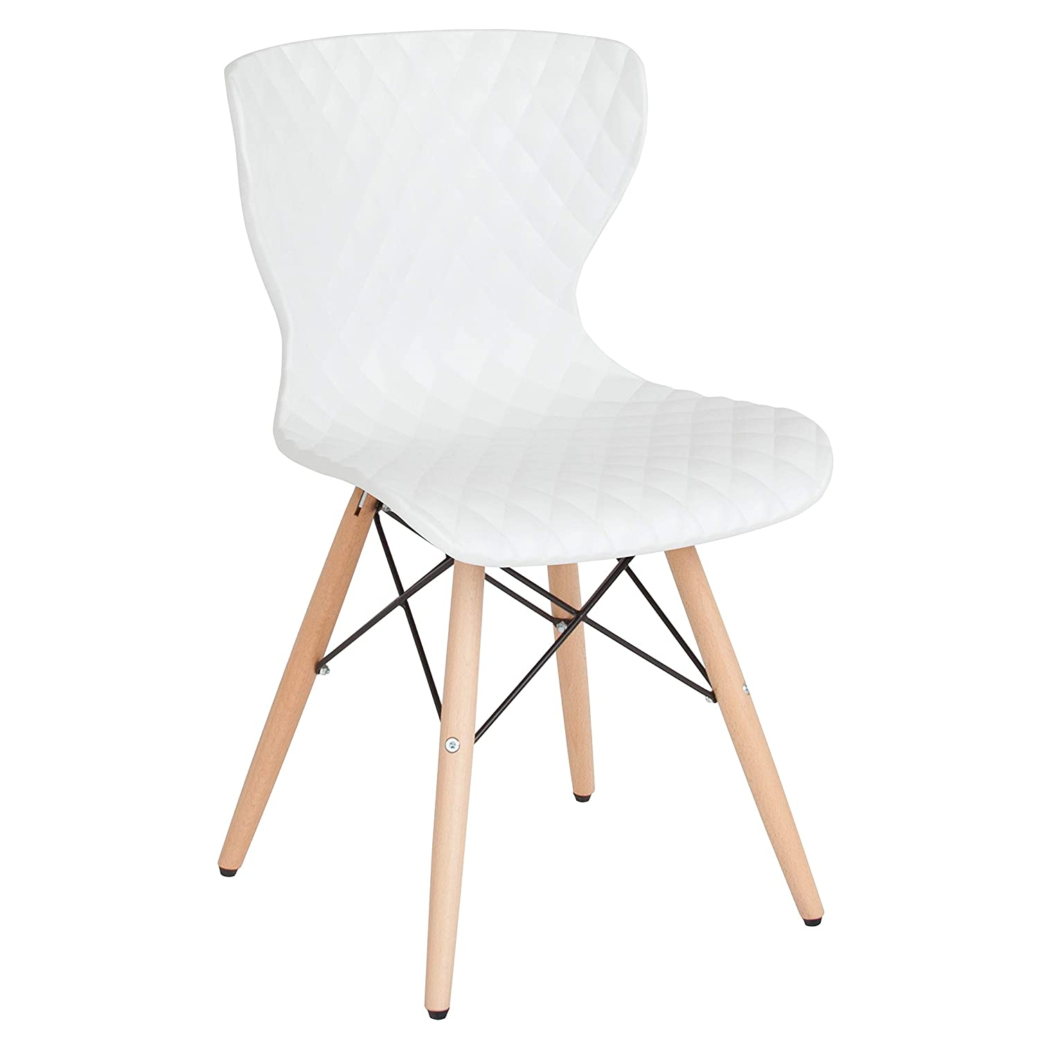 Surprising Flash Furniture Bedford Contemporary Design White Plastic Chair With Wooden Legs Ibusinesslaw Wood Chair Design Ideas Ibusinesslaworg