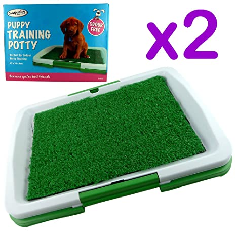 Bacinica para perros para uso en el interior, alfombrilla orinal para perros, ideal para enseñarle a ...