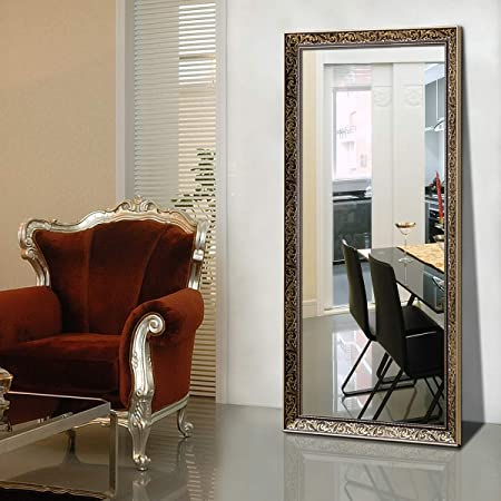 Hans Alice Full Length Bedroom Floor Leaner Mirror,Free Standing Dressing Mirror 65 x24