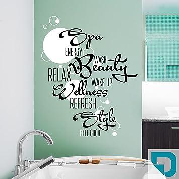 Attraktiv DESIGNSCAPE® Wandtattoo Wortwolke Bad Mit Kreisen Zweifarbig   Spa,  Wellness, Beauty, Style