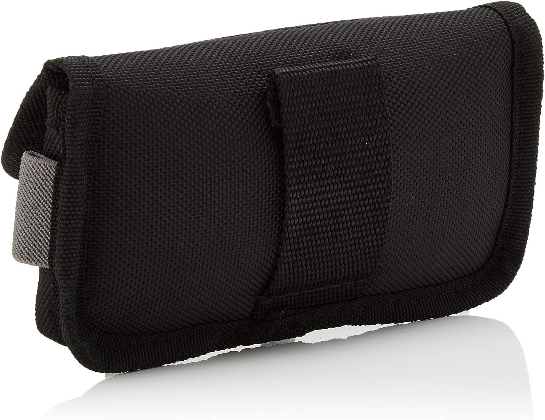 Black Wurth 715930220 Tasca per Smartphone Nylon 0715930220 Mobile Phone Belt Holder for Professional Work