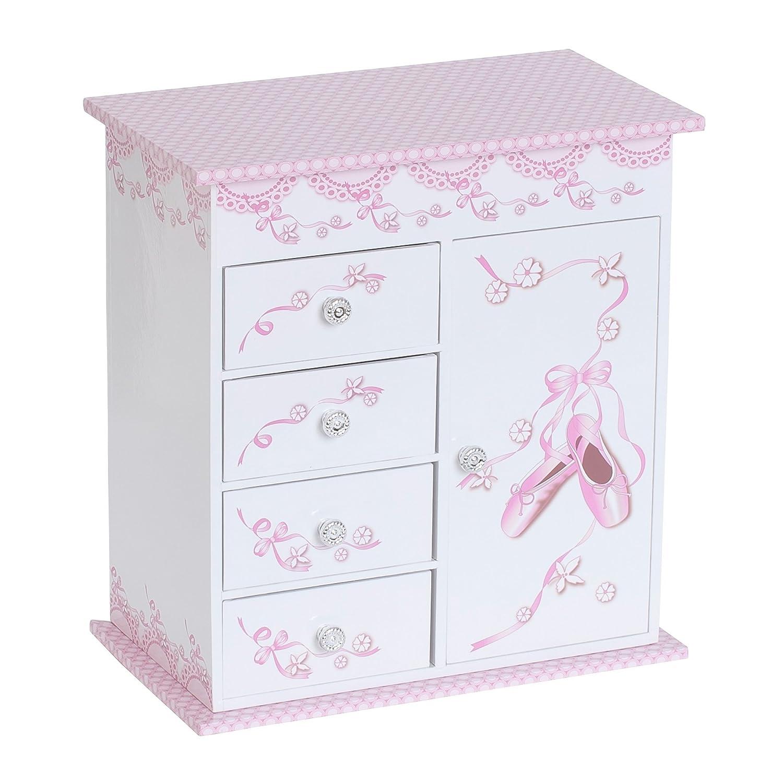 Mele & Co. Cristiana Girl's Musical Ballerina Jewelry Box (Ballet Slipper and Ribbon Design) 0071211