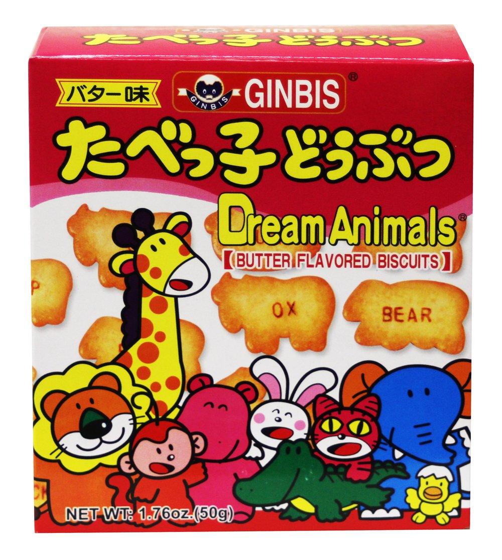 動物餅幹(牛油味) Ginbis Dream Animals animal shaped Biscuit -Butter Flavored 50g/1.76 oz (Pack of 6)