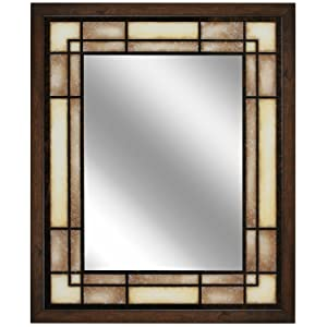 Head West Tea Glass Rectangle Mirror, 25-Inch by 31-Inch