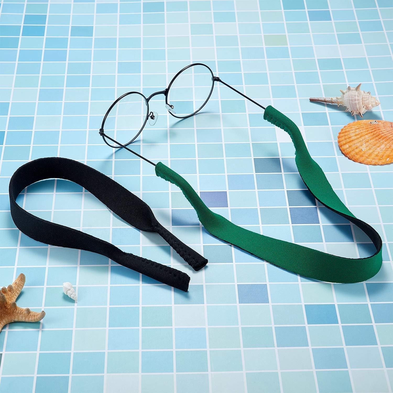 Frienda 6 Pezzi Cinghie per Occhiali Cinturino per Occhiali da Sole Cinghie Porta di Occhiali in Neoprene Morbido Cinturino di Occhiali per Sport Acquatici