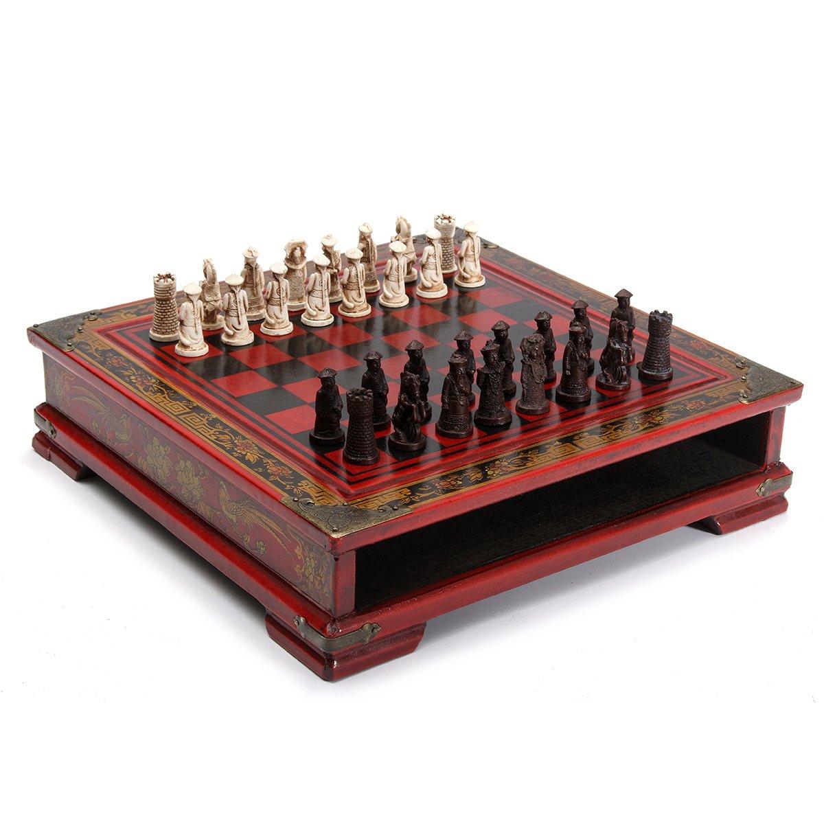 【★超目玉】 BangBang 32Pcs/Set Table Resin Coffee Chinese Chess With Coffee Wooden BangBang Table Vintage Collectibles Gift B072FDLDYL, 東京のブランドショップ:13ce3e3e --- arianechie.dominiotemporario.com