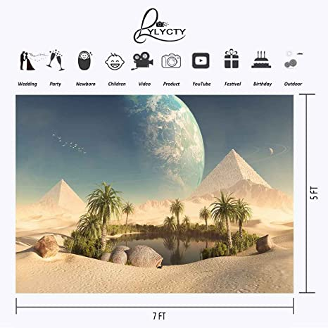 lylycty 7 x 5ft Desierto Oasis telón de Fondo pirámides Mirage ...