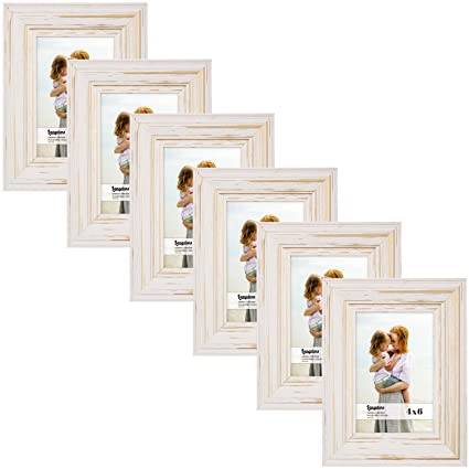Amazoncom Langdons 4x6 Real Wood Picture Frames 6 Pack