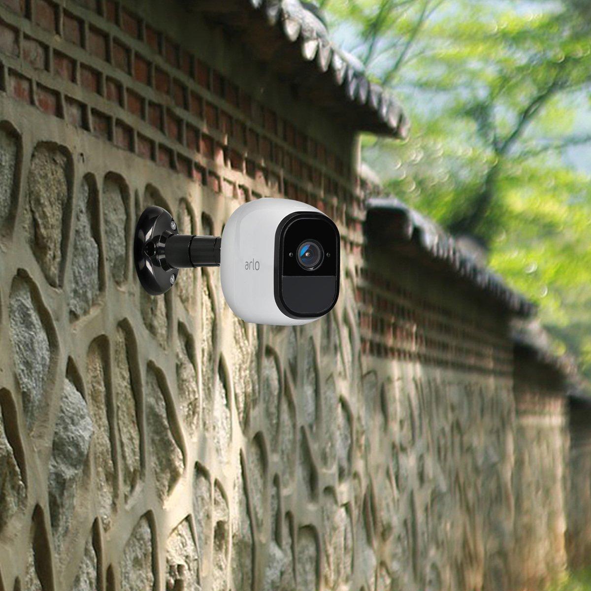 Halterung f/ür Wand oder Decke in Wei/ß Set kwmobile 2X Kamera Wandhalterungen f/ür Arlo//Arlo Pro//Kameras