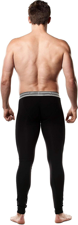 Mr Davis Comfort Fit Black Bamboo Viscose Long John Underwear