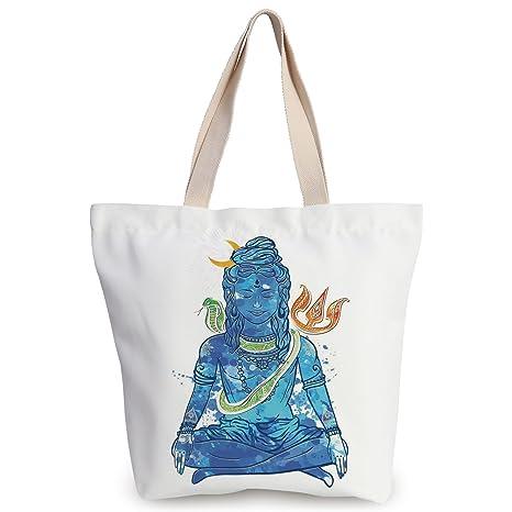 Amazon.com: iPrint Cool Canvas Tote Bag,Yoga,Watercolors ...