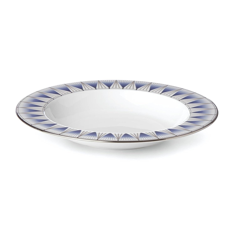 Blue Lenox 869072 Geodesia Rim Soup Bowl