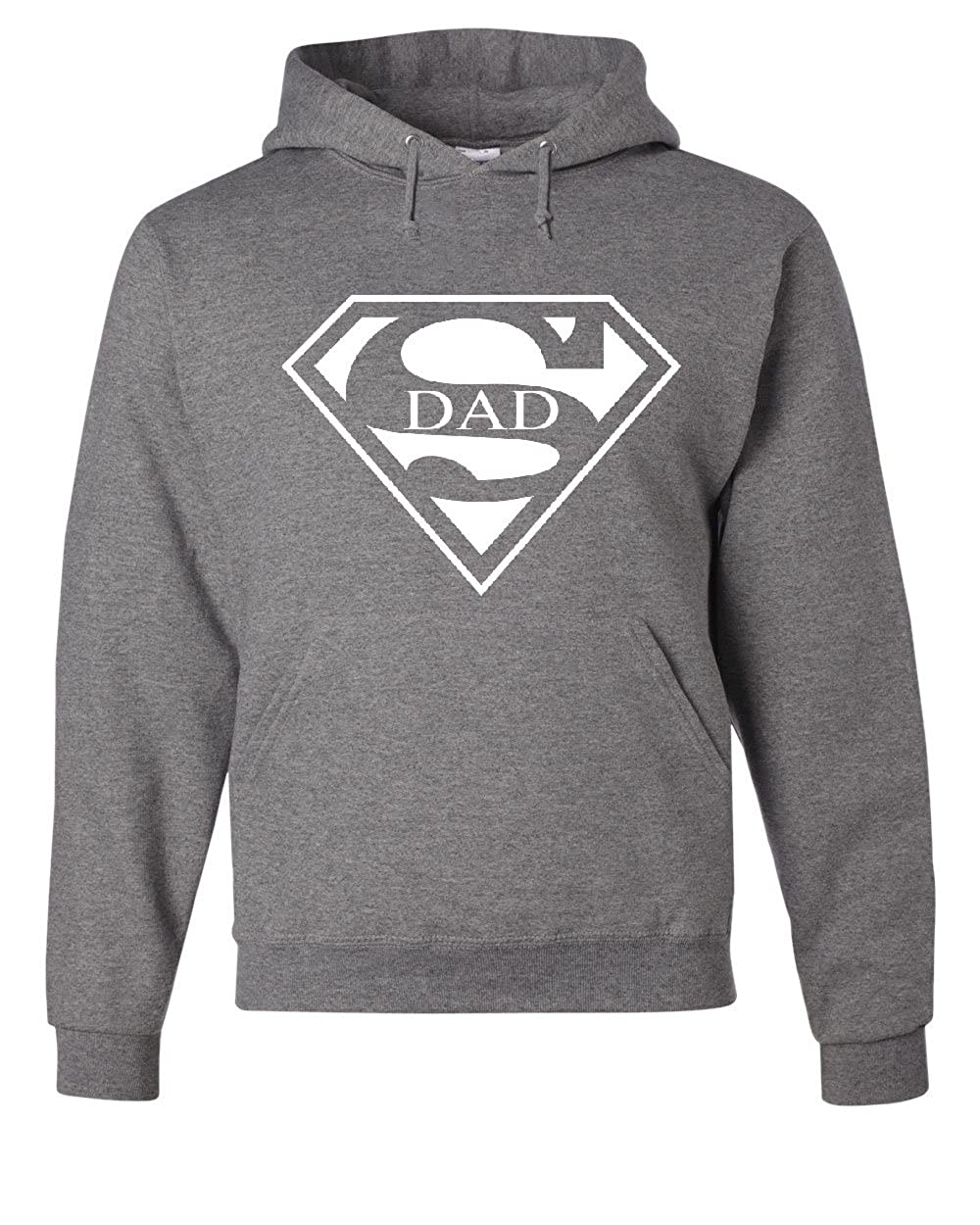 6f39d55a Tee Hunt Super Dad Hoodie Funny Superhero Father's Day Sweatshirt at Amazon  Men's Clothing store: