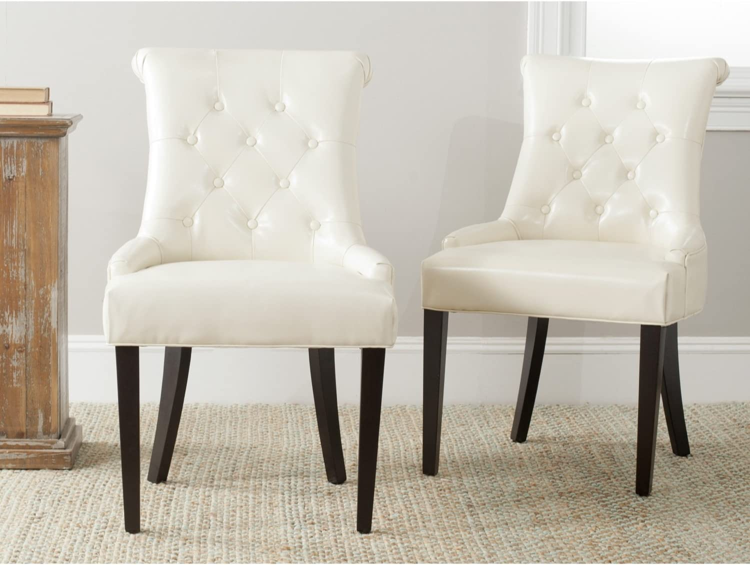 Safavieh Mercer Collection Bowie Dining Chairs, Cream, Set of 2
