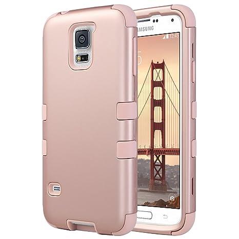 ULAK Galaxy S5 Caso, S5 Funda Carcasa Heavy Duty Robusto ...
