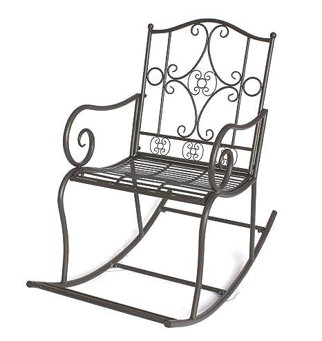 Columpio de madera para silla de ruedas DY140490 de jardín de metal con forma de silla de oficina oscilante sillón columpio de colour marrón: Amazon.es: ...