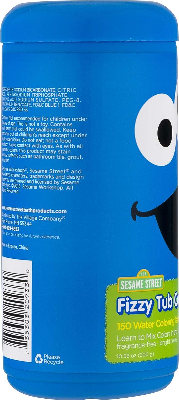 Amazon com: Sesame Street Fizzy Tub Color Tablets - 150 Baths
