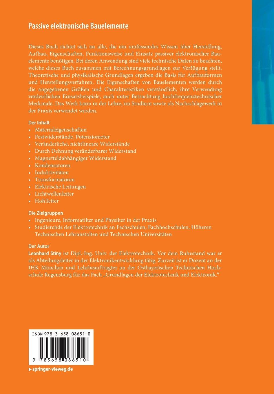 Passive elektronische Bauelemente: Aufbau, Funktion, Eigenschaften ...