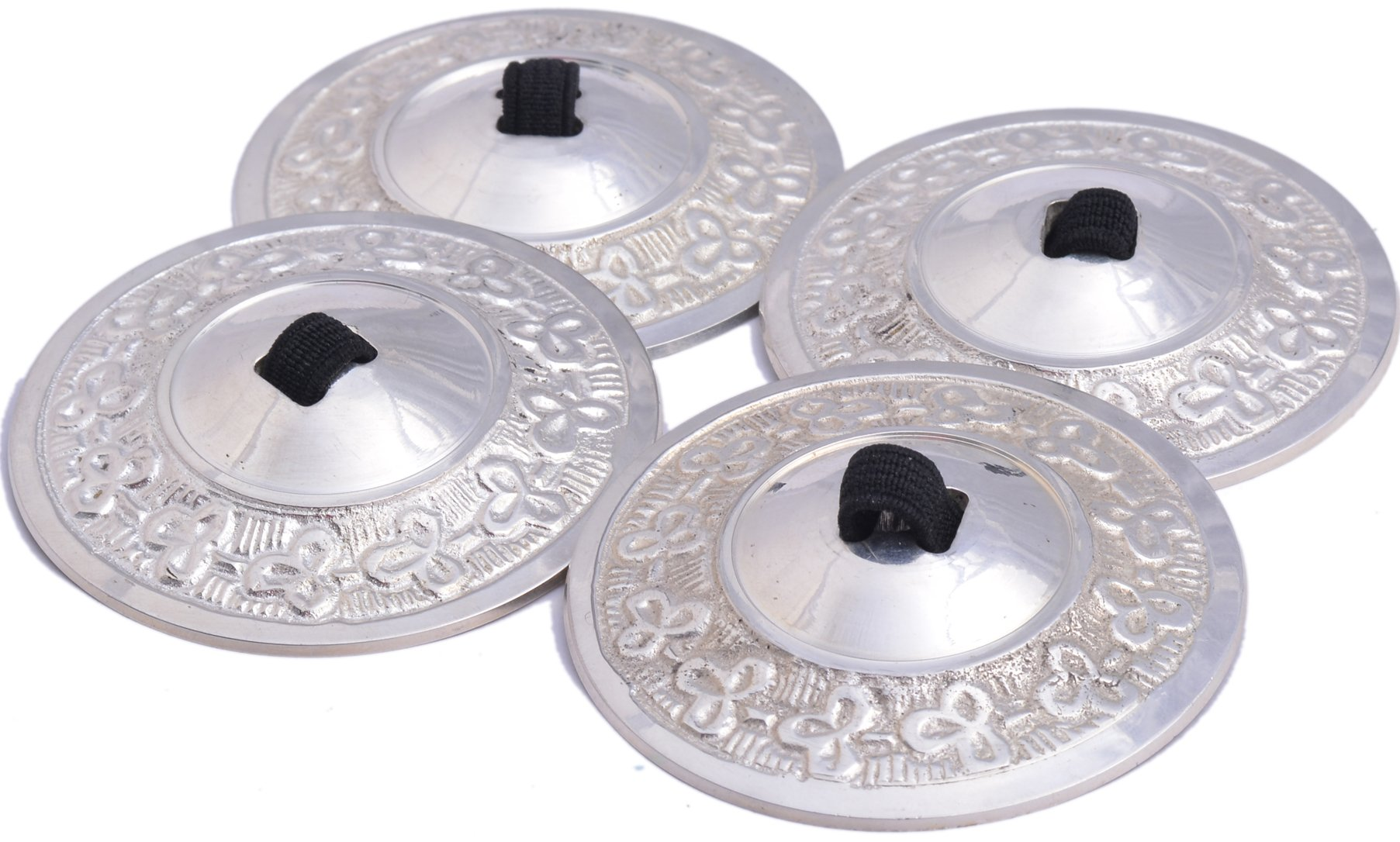 Wevez Women's 2 Pairs of Belly Dancing Finger Cymbal Zills, One Size, Silver by Wevez