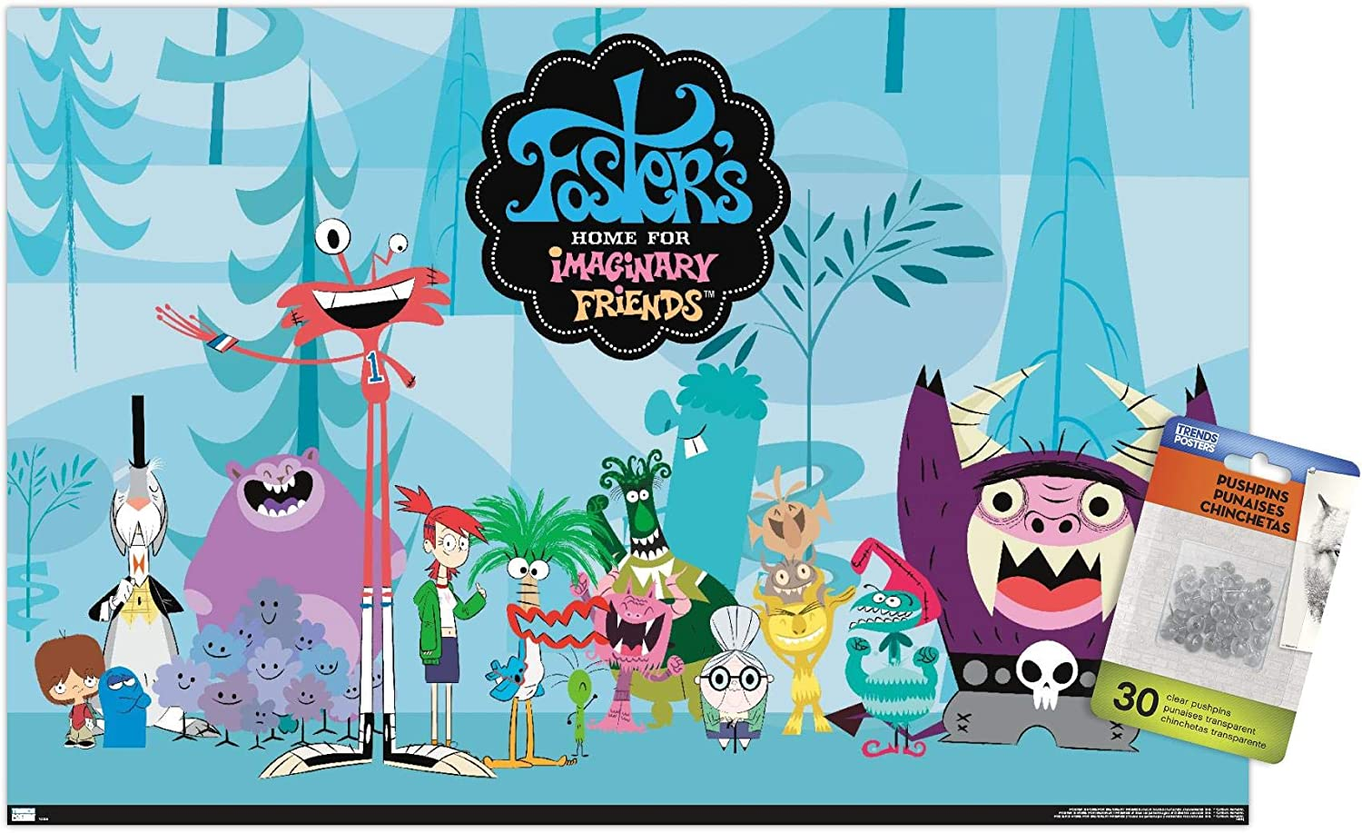 Foster's Home for Imaginary Friends - Group Wall Poster with Push Pins
