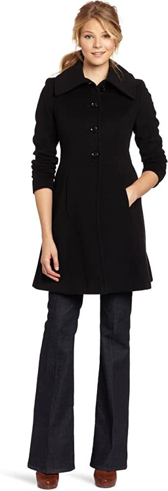 Nicole Miller Women's Fit and Flare Coat