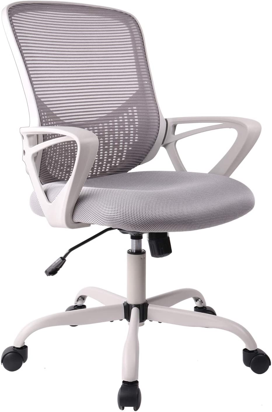 Office Chair, Ergonomic Desk Chair Computer Task Chair Mesh with Armrests Mid-Back for Home Office Conference Study Room, Gray: Kitchen & Dining